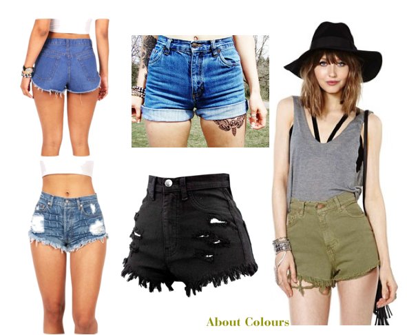 about colours, fashion, moda, short, cutoffs, cutoff, shorts